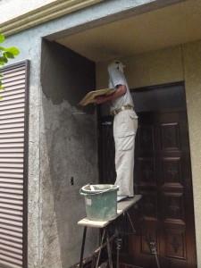 モルタル壁補修