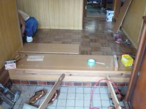 床板の貼り重ね